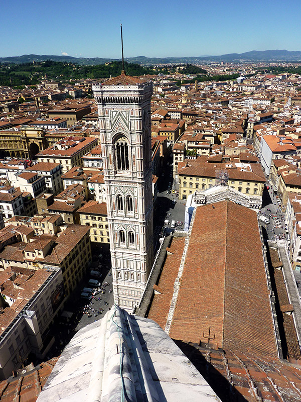 Sommet Cathedrale Santa Maria del Fiore a Florence