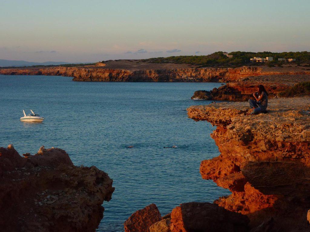 coucher de soleil falaises