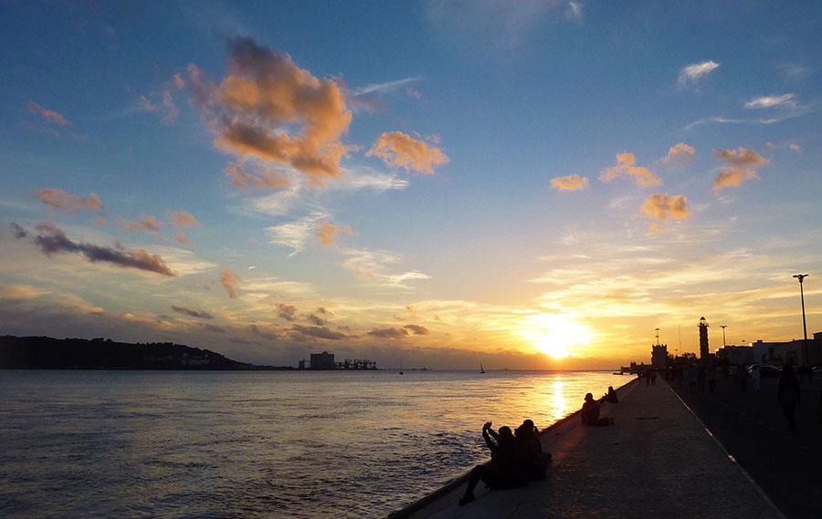 coucher de soleil belem