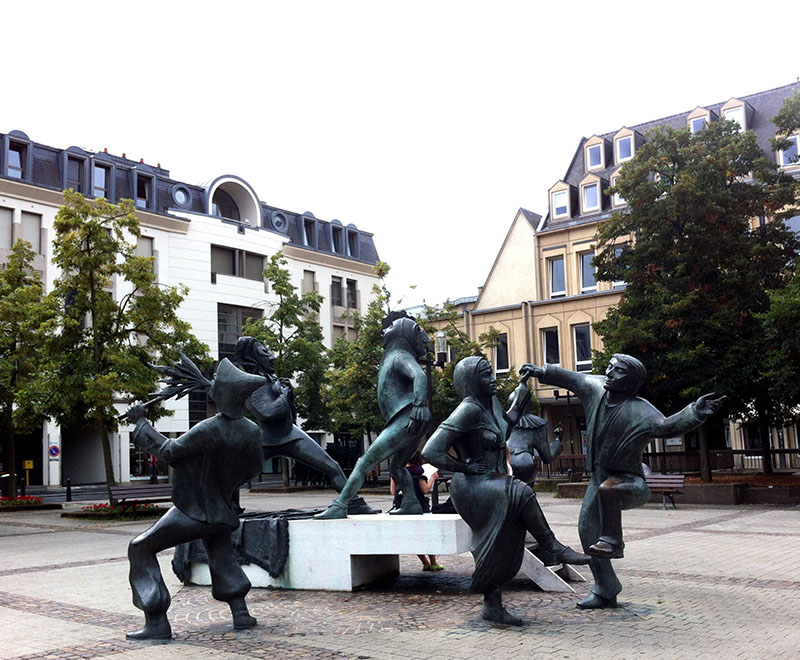 Place du theatre a luxembourg
