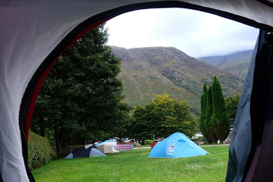 ecosse camping ben nevis