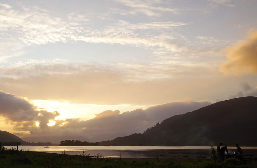 ecosse sunset