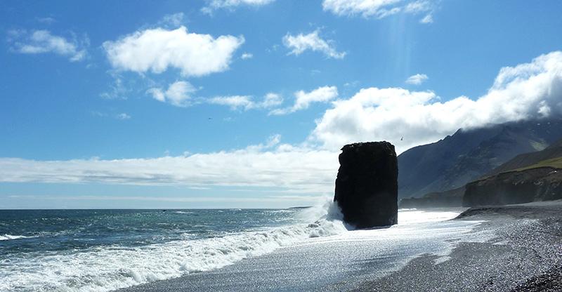 plage Laekjavik islande
