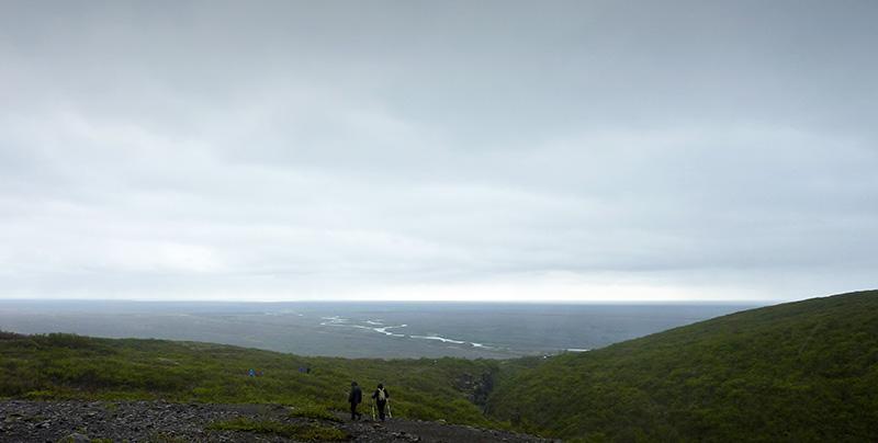 vue depuis parc Skaftafell islande