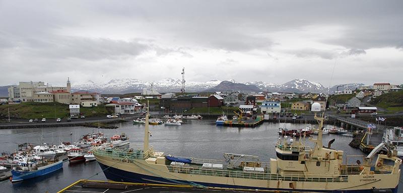 Stykkisholmur port islande