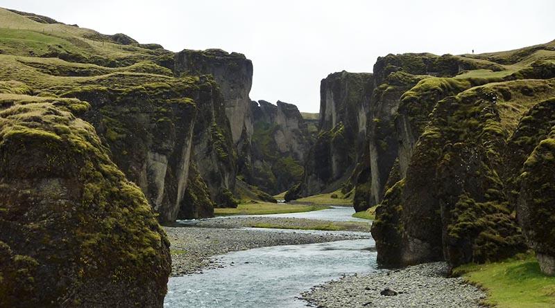canyon Fjadrargljufur islande
