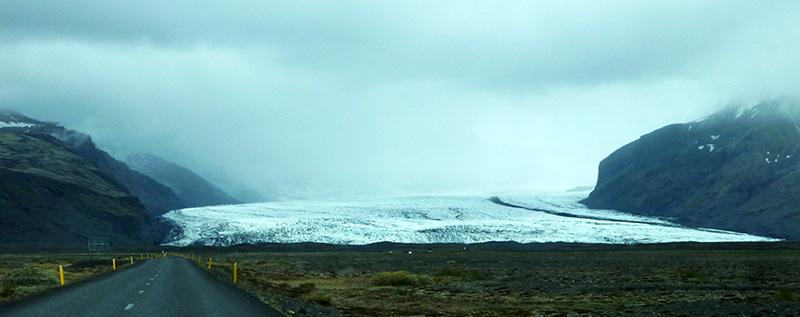 Skaftafell route glacier islande