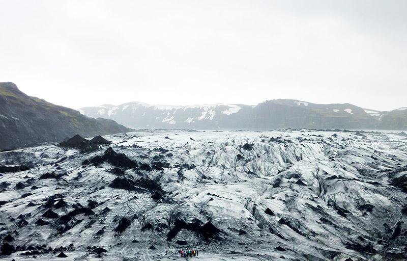 glacier Solheimajokull islande