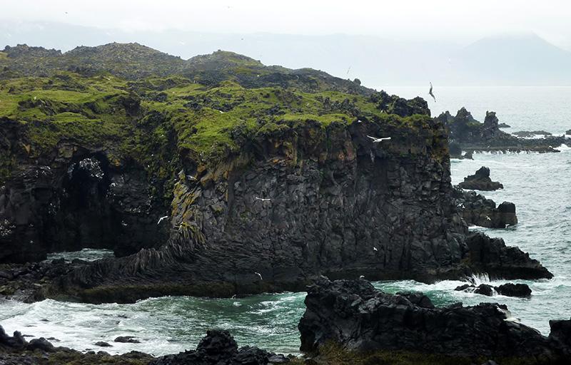 falaise hellnard islande
