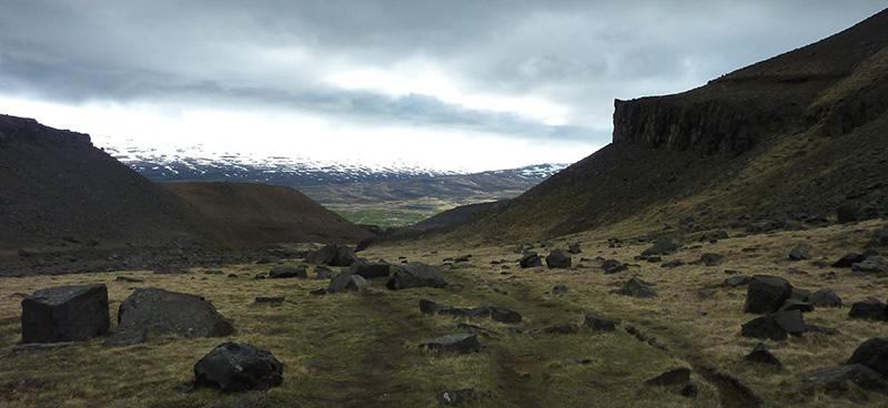 hengifoss chemin retour islande