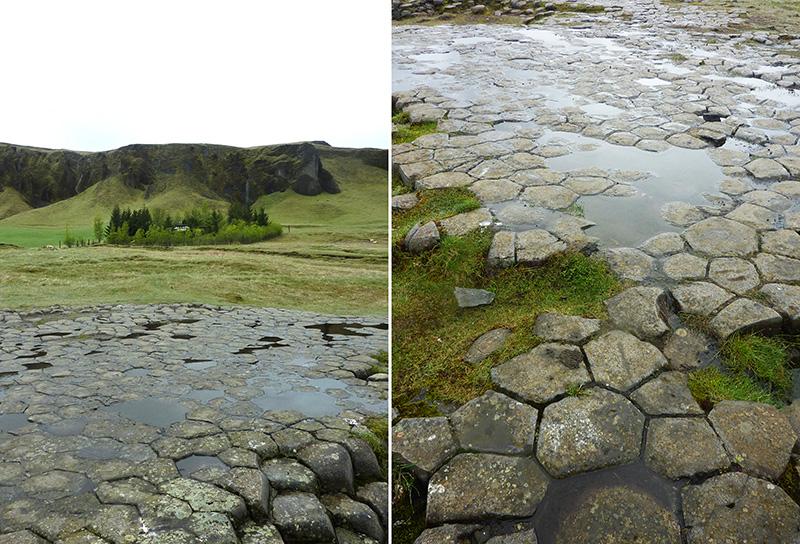kirkjugolf sol eglise basaltique islande