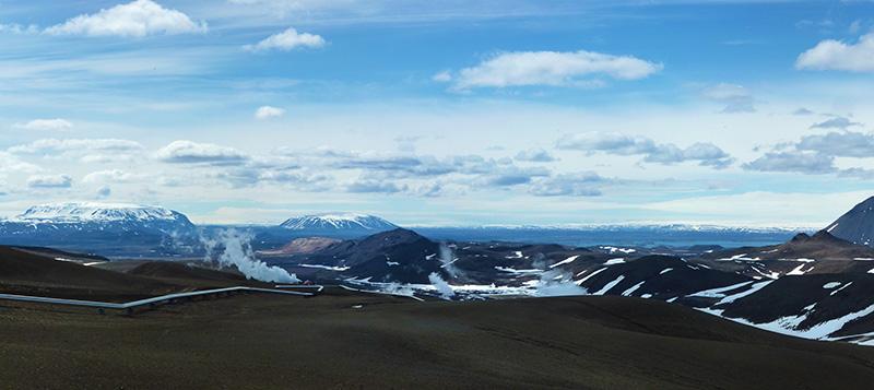 panorama krafla islande
