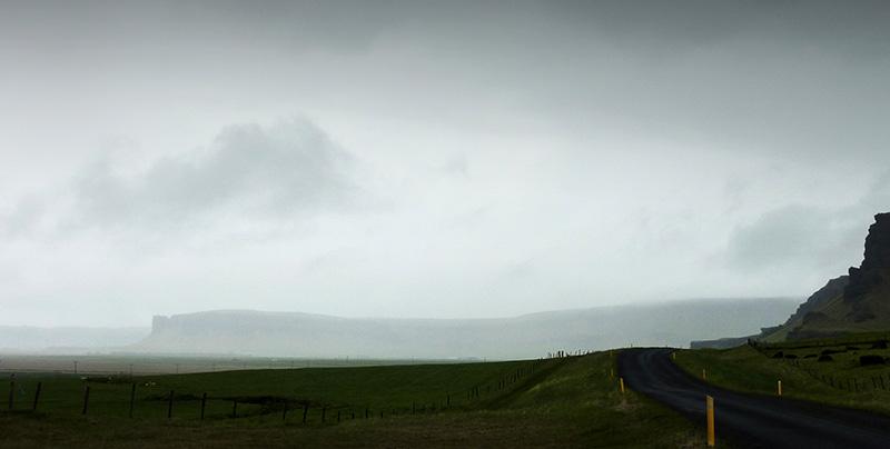 route nuages islande