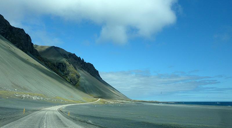 route plage islande