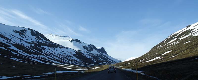 route vallons neige islande