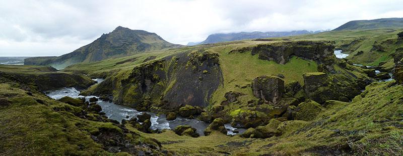 skogafoss trekk islande