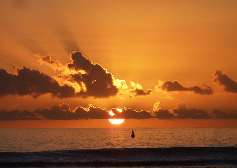 reunion coucher de soleil plage