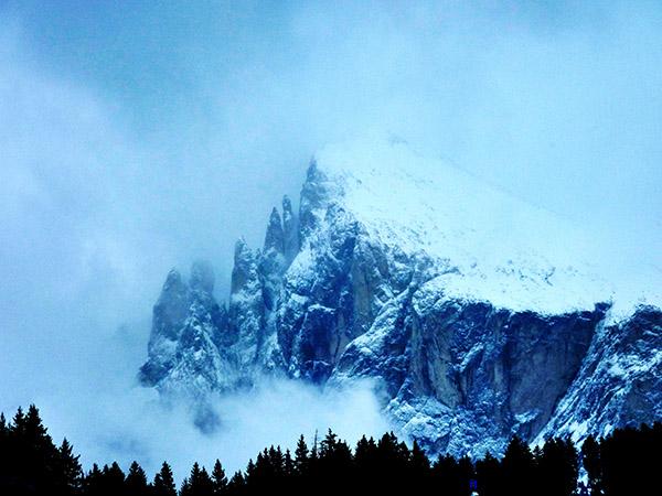 Val Gardena dans les dolomites en italie