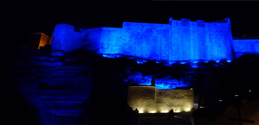 corse bonifacio by night
