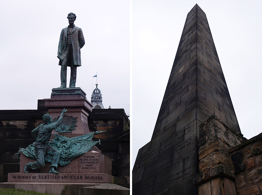 edimbourg old calton memorial