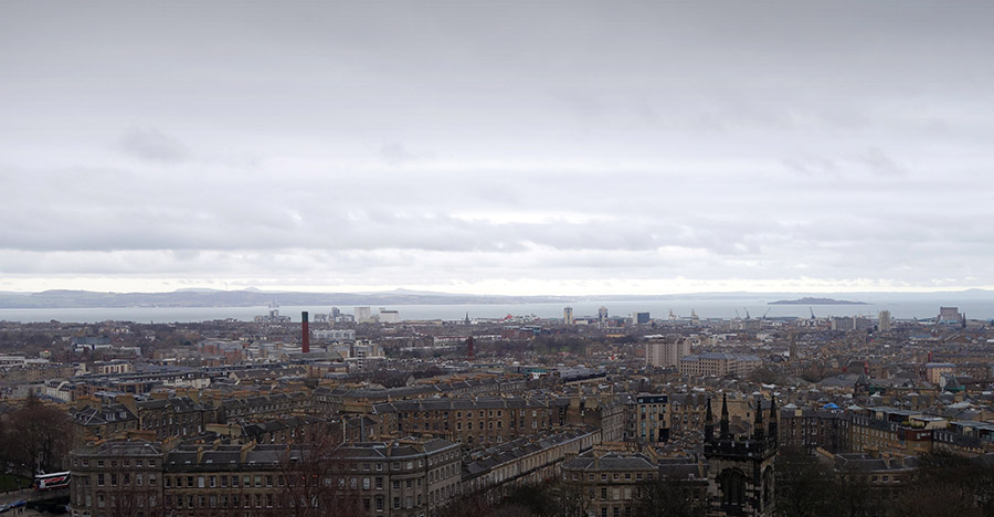 calton hill panorama