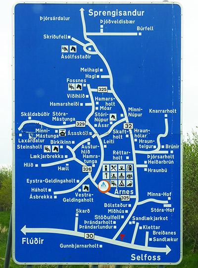 islande carte route