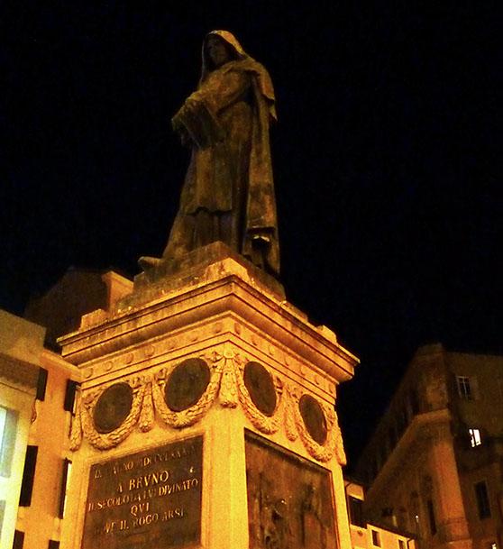 rome statue giordano bruno