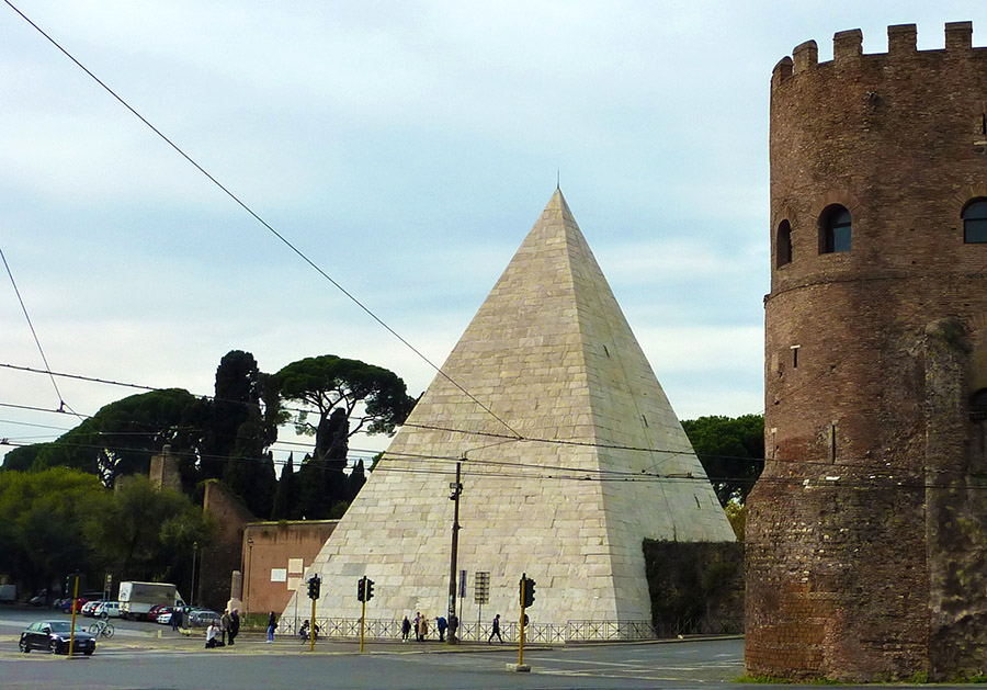rome pyramide cestius