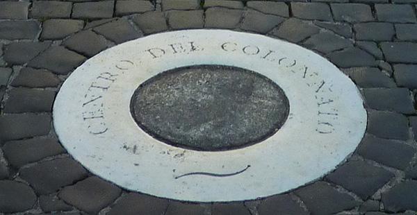 rome vatican centro del colonnado