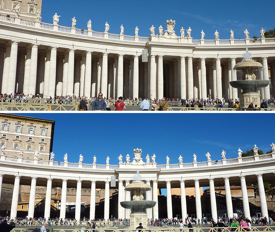 rome vatican colonnes place saint-pierre