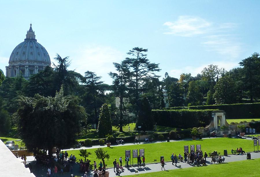 rome vatican jardin