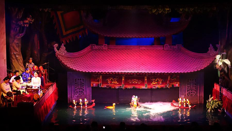 vietnam hanoi marionnettes eau