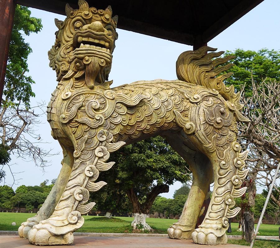 vietnam hue cite imperiale lion