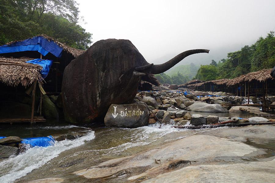 vietnam hue suoi voi cascade elephant