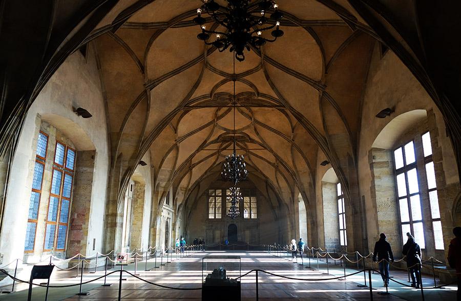 prague chateau salle vladislav
