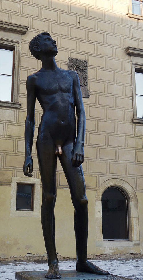 prague statue youth burgrave