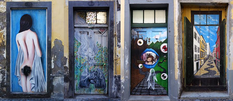 rue santa maria portes peintes madere funchal