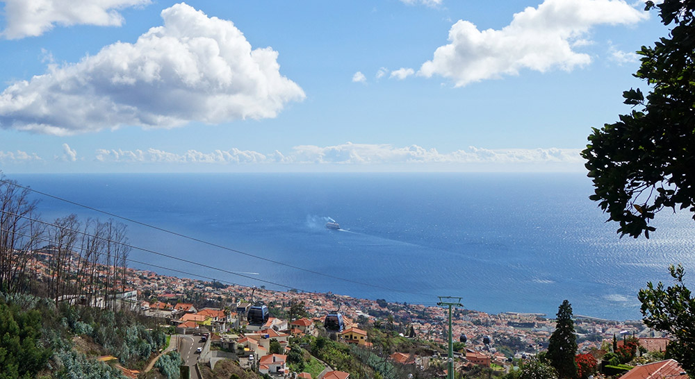 madere funchal telepherique vue mer