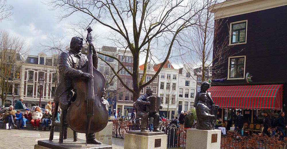 amsterdam elandsgracht statues musiciens