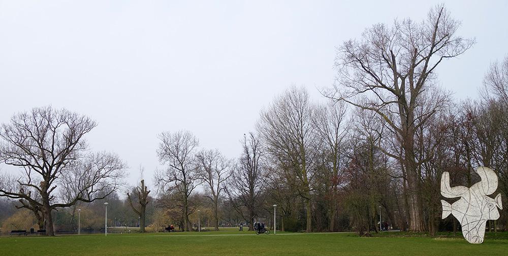 amsterdam parc vondelpark statue