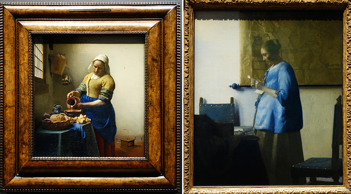 amsterdam rijksmuseum musee museum vermeer laitiere femme bleue courrier