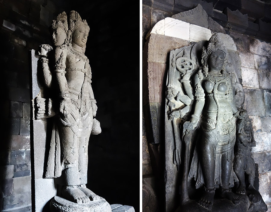 indonesie temple prambanan statue brahma vishnou