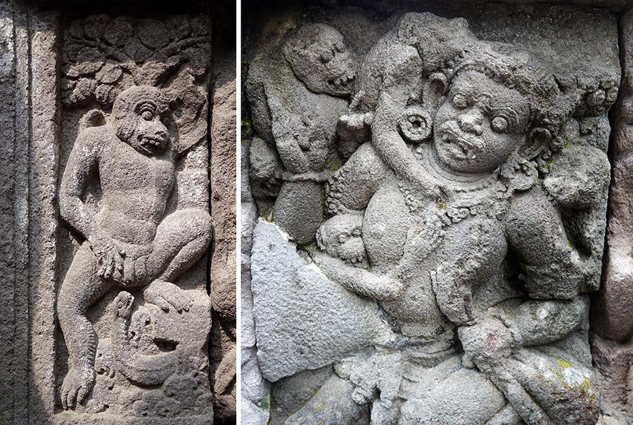 indonesie prambanan statues insolite