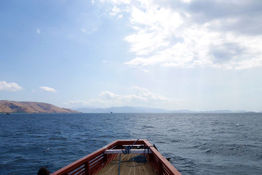 indonesie rinca komodo mer bateau