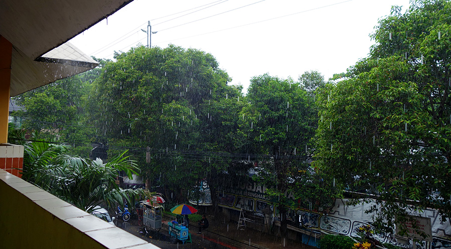 indonesie yogyakarta pluie