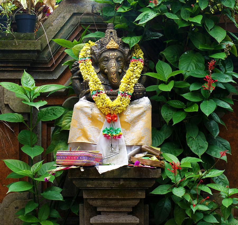 indonesie bali ubud ganesh statue