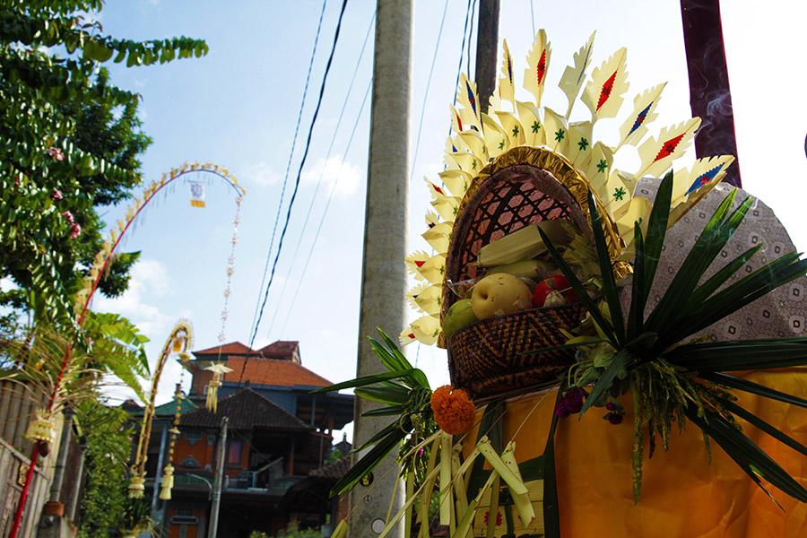 indonesie bali ubud offrande