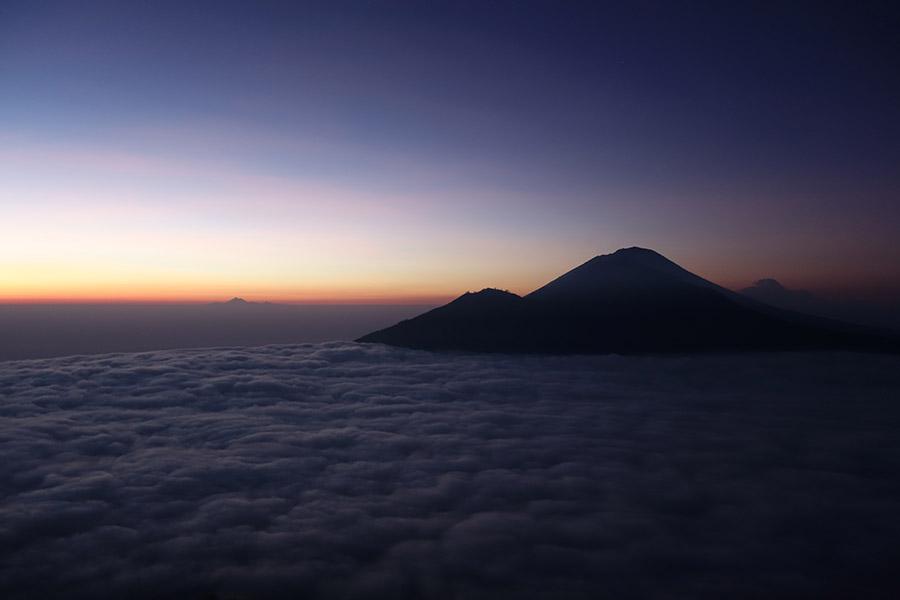 indonesie bali trek trekking rando mont volcan batur agung sunrise lever soleil