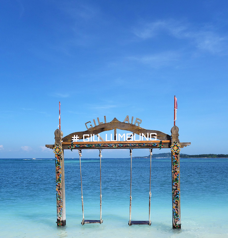indonesie gili air instagram balancoire plage beach