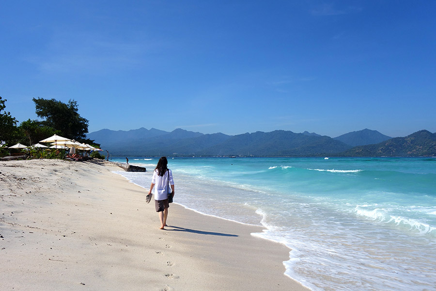 indonesie gili air plage beach sable